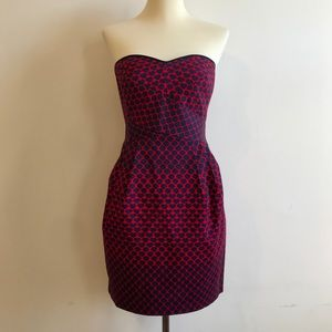 NWOT Club Monaco Strapless Minidress w/ Pockets